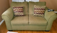 Light colored sofa and loveseat. Make offer