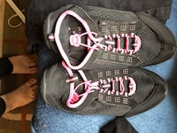 Black & pink women's sneakers/workout shoes 7/8 slip on