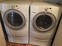 White front load washer and dryer  511 mi