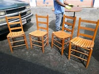 4 ea wooden chairs  Columbus, 31901
