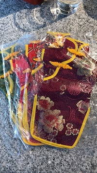 Chinese wine bags - cloth and brand new Vancouver, V6B 1G2
