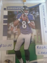 Lamar Jackson Baltimore Ravens Rookie Card