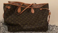 brown Louis Vuitton Monogram leather tote bag null