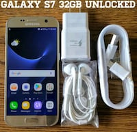 Galaxy S7 Verizon + GSM UNLOCKED 32GB + Accessorie Arlington
