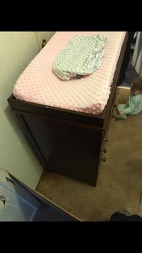 Wooden Change Table with Two Changing pad sheets  Oshawa, L1K 1G3
