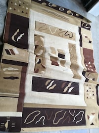 brown and white area rug Clifton, 07011