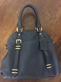 black and gray leather handbag Aurora, L4G 1N4