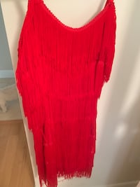 Red scoop neck flapper sleeveless dress Plantation, 33322