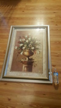 2 Piece SET- HUGE & HEAVY 30x41  Framed Wall Hangings Terry, 39170