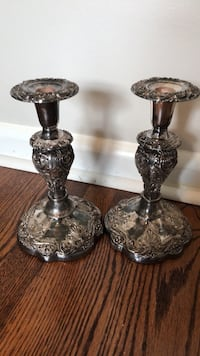 Eales-Circa 1779 Authentic Reprodution Silverplated Set of Candle Holders.