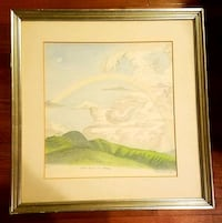 Framed Art Rainbow Colored Pencil Sketch Lorton, 22079