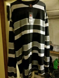 black and white striped long sleeve shirt West Palm Beach, 33401
