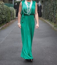 Robe d'occasion verte longue dos nu null