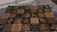 brown, white, and green floral area rug Savannah, 31405