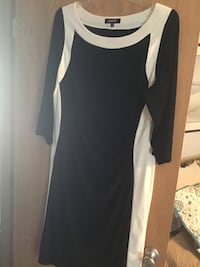 Black with White Trimmed Dress