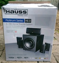 HAUSS Platinum Series HS-3 5.1 HD Home Theater System.