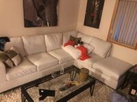 White leather sectional  Kamloops, V2B 0B1