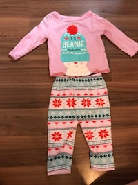 toddler's pink and white long sleeve shirt