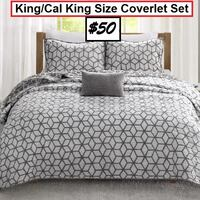 AJ- BRAND NEW- Reversibile Bronte 4 Piece Coverlet Set Mississauga