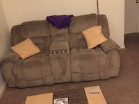 brown fabric 3-seat sofa Stafford, 22556