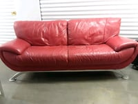 red leather 3-seat sofa Washington