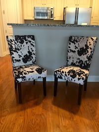 Cow Hide Dining Chairs (Set of 2)