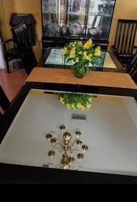 Black Wood Table with China Cabinet New Orleans, 70118