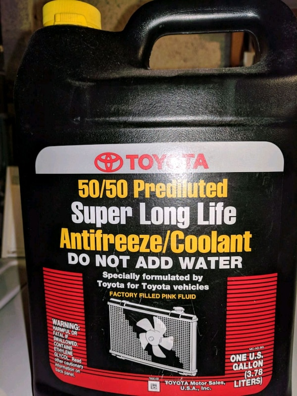 Toyoto 50/50 Pre Diluted Super Long Life Antifreez
