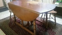 Old table and 2 chairs