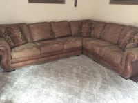 brown and gray fabric sectional sofa Laurel, 20708