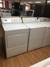 white clothes washer and dryer set 47 km