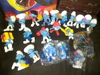 Collection of Smurfs, few in plastic few not all in great shape