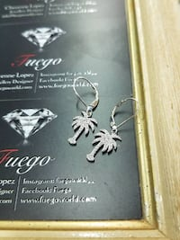 New Sterling Silver Palm Tree Earrings Burnaby