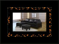 Black sectional with ottoman Alexandria, 22305