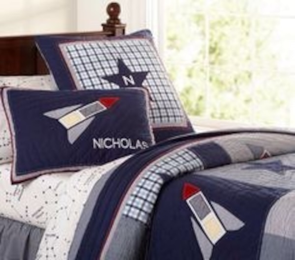 Pottery Barn Kids Rocket Ship E Bedding Full Sized