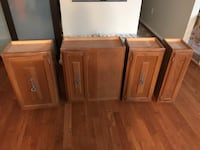 three brown wooden side tables Alexandria, 22302