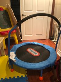 black and blue Little Tikes trampoline Quebec City, G1S 3N7