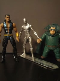 four assorted action figures with box