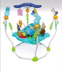 baby's blue and green jumperoo Edmonton, T5H 3M3