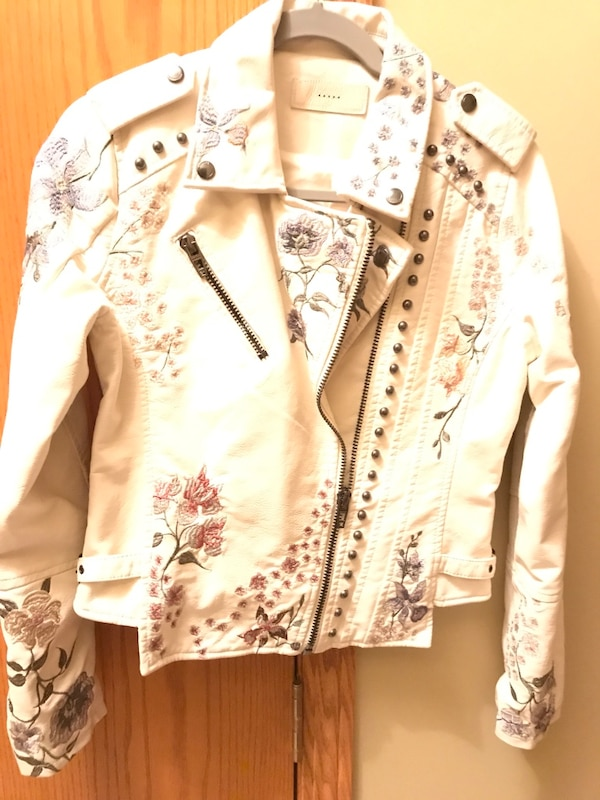 Nnew- Leather Embroidered & Stud beaded jacket.   New 16651187-150a-4da5-888a-23ada5fdf81c