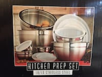 8 stainless steel prepping bowls with fitted lids