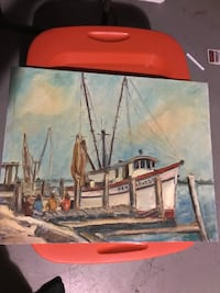 "At sea ""all aboard"" hand painted picture  Stanley, 28164"
