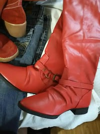 Red New Boots Sz 7