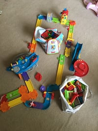 Toys, two box of building blocks and road with cars  Kennesaw, 30144