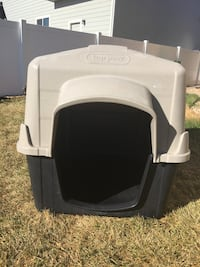 black and grey top paw pet carrier