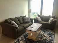 Sage Couch with a Full Sleeper Sofa and Love Seat Reston