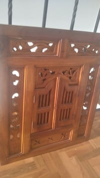 brown wooden cabinet with mirror Singapore, 648560