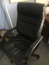 Office desk, cabinet, and chair $200