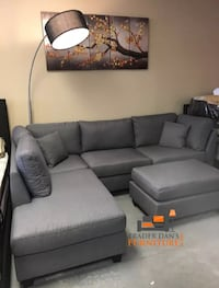 gray linen sectional sofa with ottoman Silver Spring, 20902