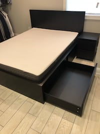 Ikea Malm Set: Queen Bed, Mattress, Underbed Storage, Nightstand Washington, 20003